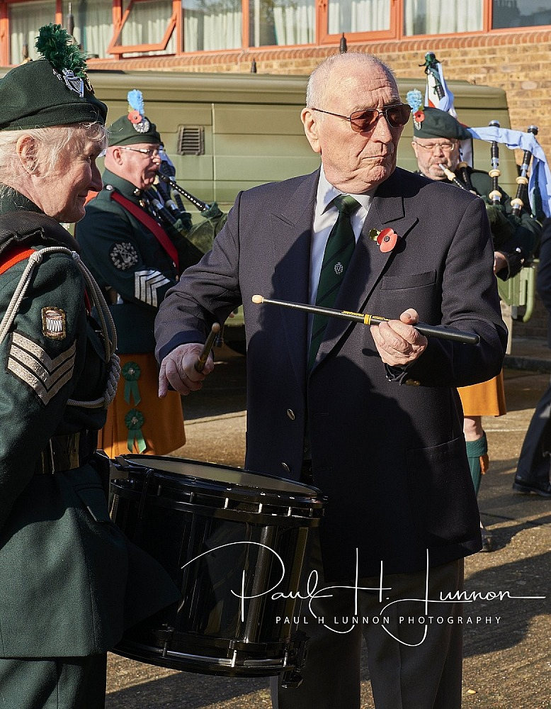 Rememberance day parade with London Irish at Flodden Road 10th November 2019